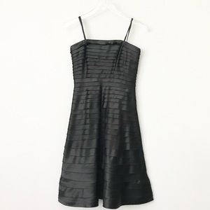 Cache Strapless Satin Pleated Dress in 4.
